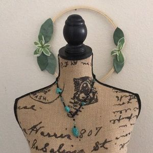 Jewelry - Black & turquoise necklace